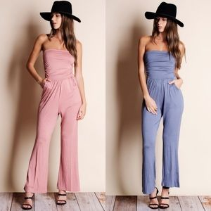 💫💕New! Strapless Jumpsuit in Pink💕💫
